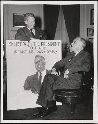 James Montgomery Flagg and Franklin D. Roosevelt