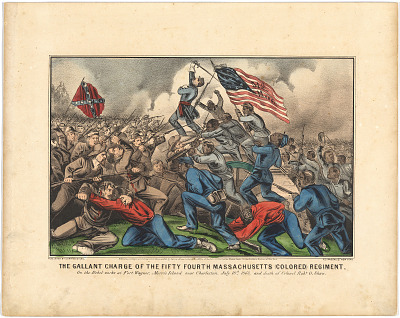 The Gallant Charge of the Fifty-Fourth Massachusetts (Colored) Regiment
