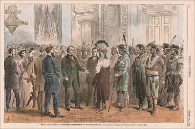 Andrew Johnson: Indian Delegations at Washington – Presentation to the President [4456]