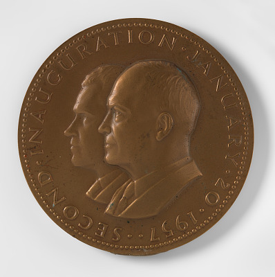 Dwight D. Eisenhower and Richard M. Nixon, Second Inaugural Medal