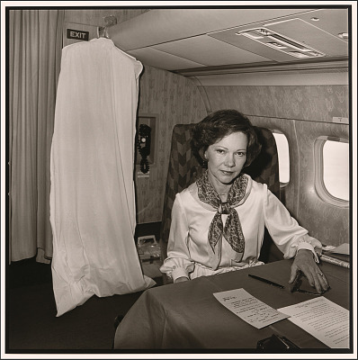Rosalynn Carter on Air Force Two