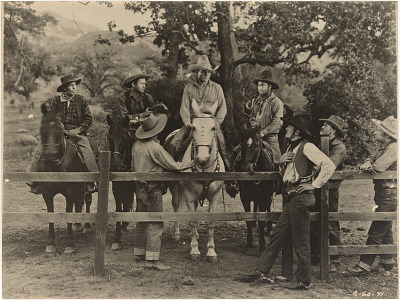 Buck Jones and Unidentified Cast Members