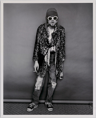 Kurt Cobain; Standing with Evian Bottle