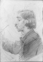 Cartoon Sketch Of Artist's Student