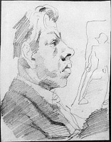 Image of Cartoon Sketch Of Artist's Student