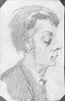Cartoon Sketch Of Artist's Student