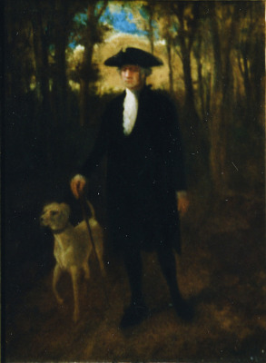 George Washington and His Dog