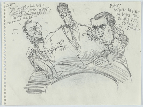 Bush and Dole as Children on Reagan