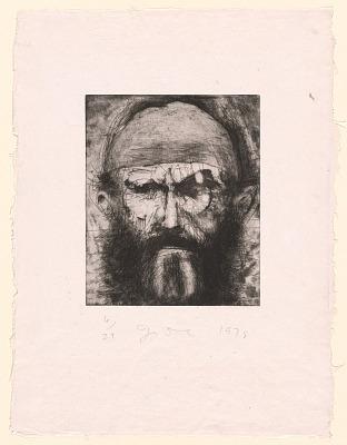 Self-Portrait on J.D. Paper