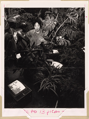 Nam June Paik with Video Jungle