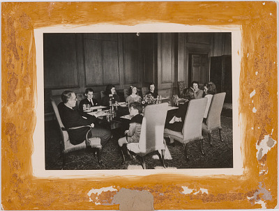 Joseph Kennedy and Family at Dining Room Table