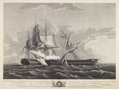 U.S. Frigate Constitution with Commander Isaac Hull