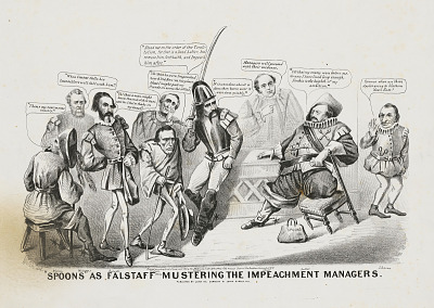 Spoons as Falstaff Mustering the Impeachment Managers