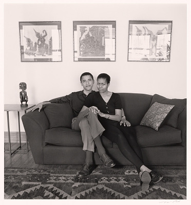 Barack and Michelle Obama, Chicago, Illinois, 26 May 1996