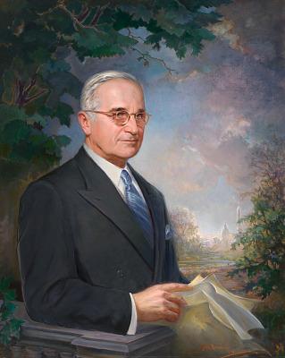 Harry S Truman Portrait