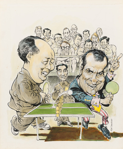 Mao Tse Tung and Richard Nixon