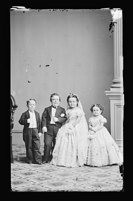 Strattons, G.W.M. Nutt, and Minnie Warren (wedding party)