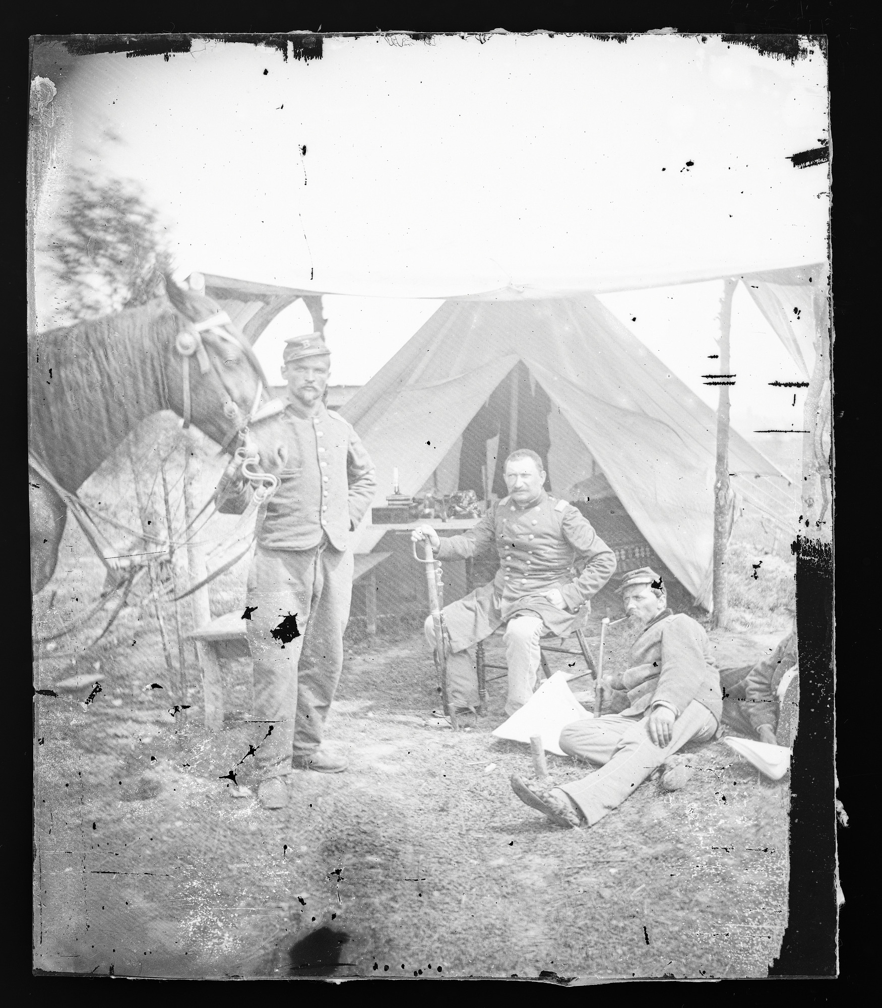 Civil War Camp Scenes / Possibly New York 7th Regiment