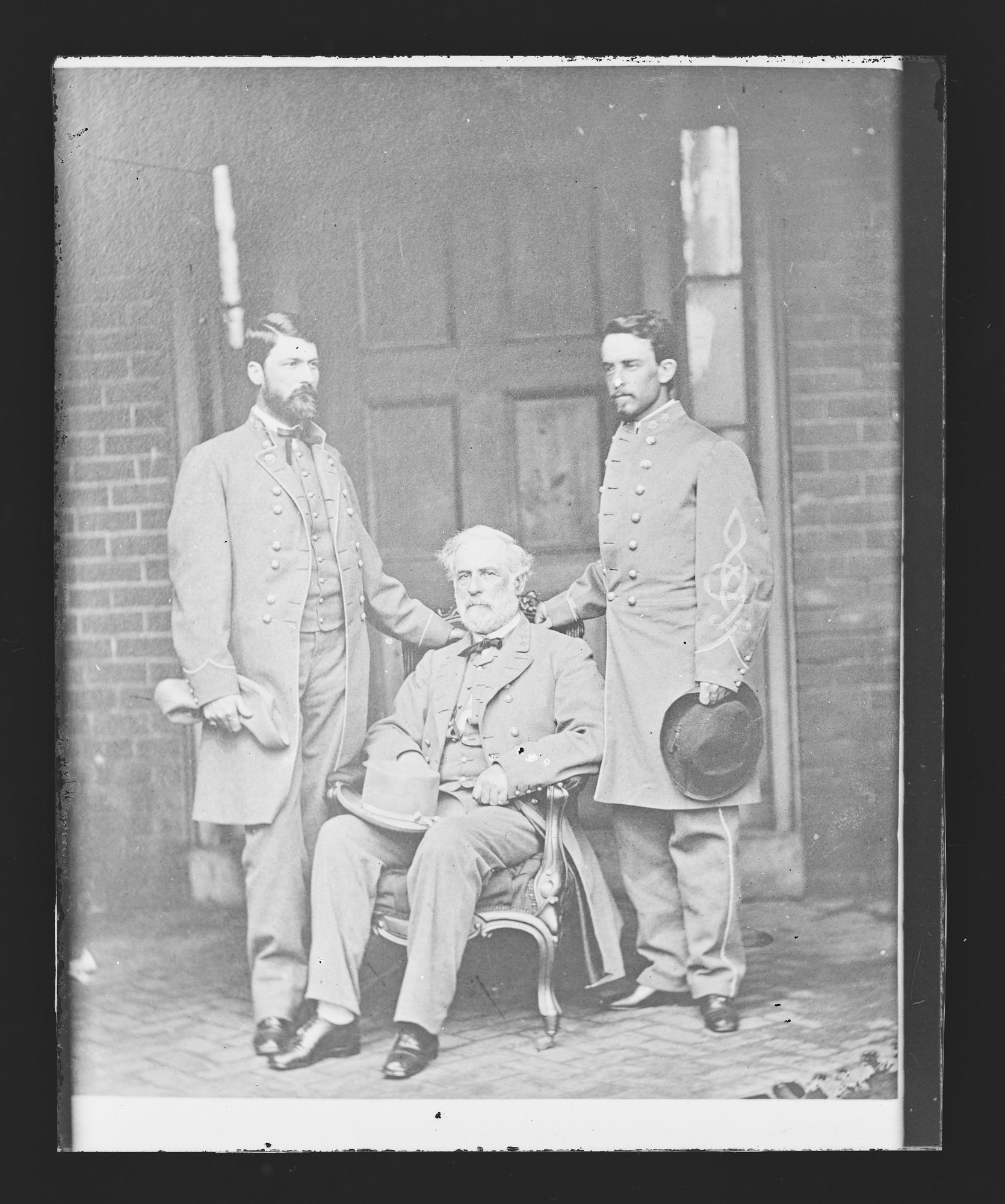 Robert E. Lee and Staff [G.W.C. Lee and Walter H. Taylor]