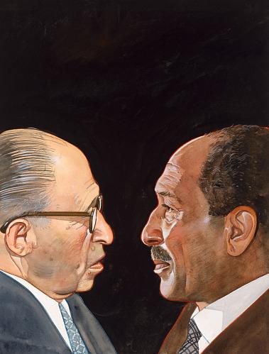 Menachem Begin and Anwar Sadat