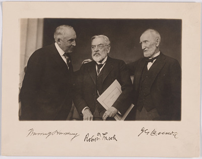 Warren G. Harding, Robert Todd Lincoln and Joseph Gurney Cannon