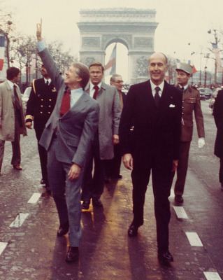 Jimmy Carter and Valery D'Estaing in Paris