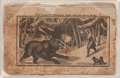 Crockett's Desperate Fight with a Bear