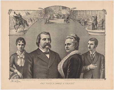 John A. Logan and Family
