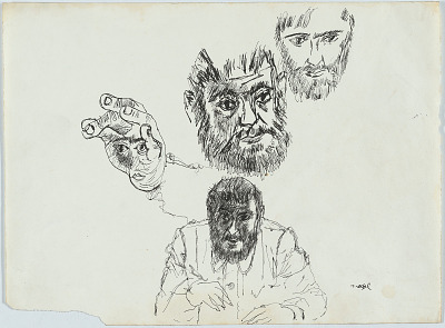 Zero Mostel Self-Portrait