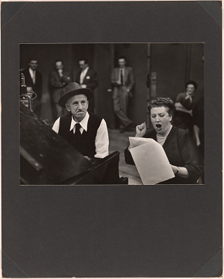 Jimmy Durante and Helen Traubel