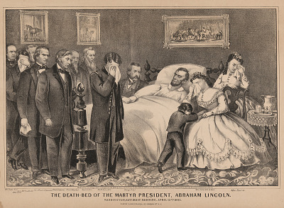 The Death-Bed of the Martyr President, Abraham Lincoln