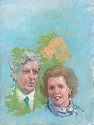 Margaret Thatcher and Garret Fitzgerald