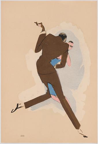 Le Tumulte Noir/Dancing Pair with Man in Brown