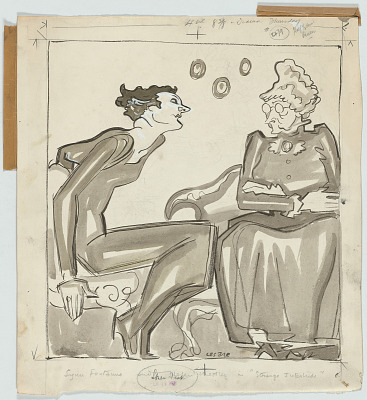 Lynn Fontanne and Helen Westley --