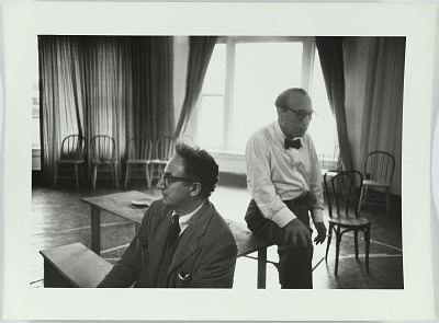 Clifford Odets and Menasha Skulnick