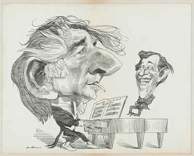Leonard Bernstein and Adolph Green