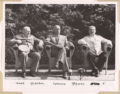 Churchill, Truman and Stalin at Potsdam