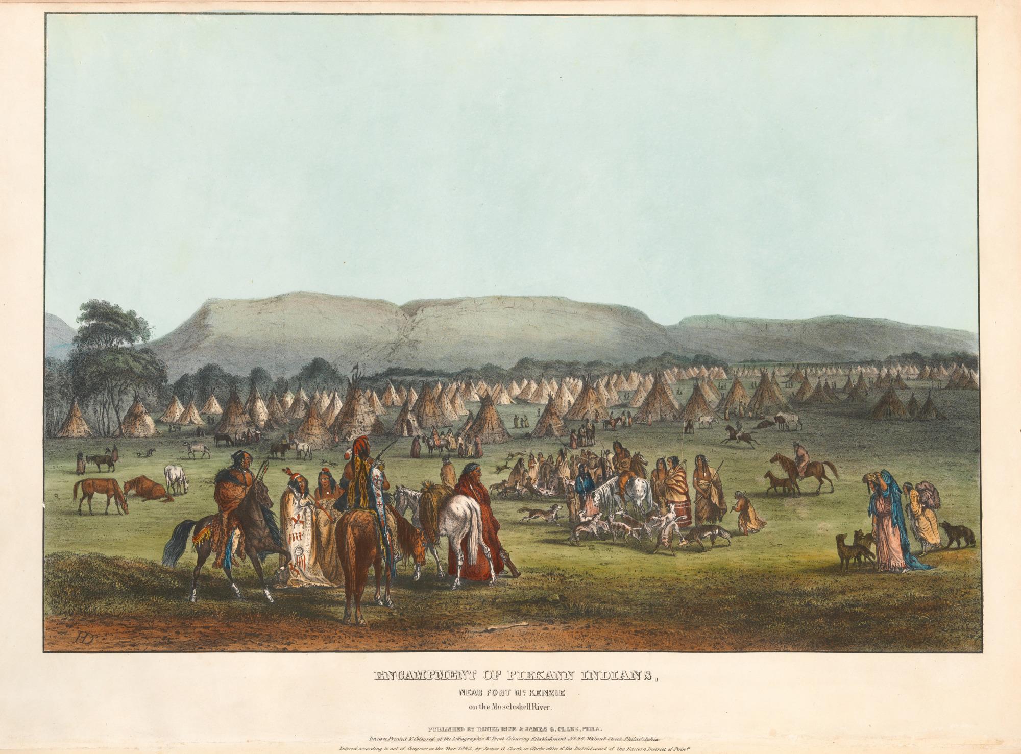 Encampment of Piekann Indians