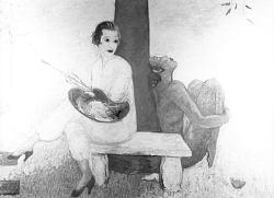 Painter and Faun