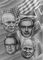 The Big Four: Eisenhower, Khruschev, Eden, Coty