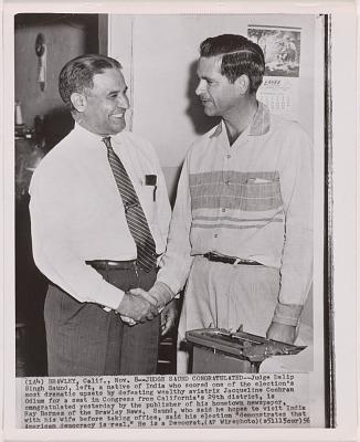 Dalip Singh Saund and Ray Barnes