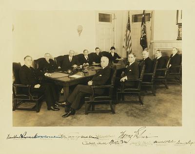 Franklin Roosevelt and Cabinet