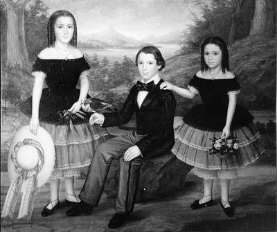 Charles Millhiser and Sisters, Jeanette and Amelia Millhiser