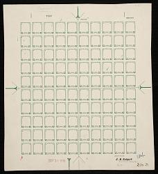 $2 Warren G. Harding frame plate proof