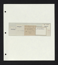 Archival collectors notes on album page