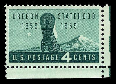 4c Oregon Statehood single