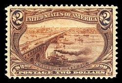 $2 Trans-Mississippi Mississippi River Bridge single