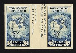 3c National Stamp Exhibition Farley special printing gutter pair
