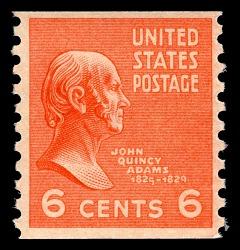 6c John Quincy Adams horizontal coil single