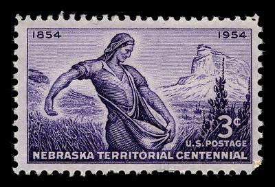 3c Nebraska Territorial Centennial single